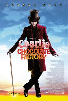TB017. Willy Wonka / Charlie and the Chocolate Factory / Movie Poster by Intralink Film Graphic Design (2005) / #Movieposter / #Timburton