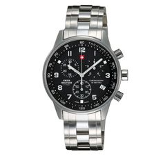 Swiss Military by Chrono Stainless Steel Bracelet, Stainless Steel Case, Rolex Watches, Watches For Men, Quartz Watch, Omega Watch, Military, Bracelets, Silver