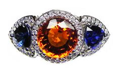 What better way to say War Eagle than with diamonds, sapphires, and orange garnets...