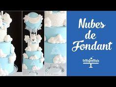 Nubes de Fondant con Volumen. Parte 3 Tarta Ositos en Globo - YouTube