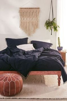 Washed Cotton Tassel Duvet Cover