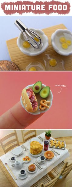 Makes me think of the miniature Thanksgiving feast Hayley made for a shoebox diorama in third or fourth grade.  she used sculpt and the food looked good enough to eat!