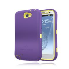 ZeroLemon Samsung Galaxy Note 2 ZeroShock Rugged Lemon Yellow / Majestic Purple Case + Holster/KickStand for Original Slim & 9300mAh Extended Battery Case ***Battery NOT Included*** (Compatible with Samsung Galaxy Note II GT-N7100, T-Mobile Galaxy Note II SGH-T889, Sprint Galaxy Note 2 SPH-L900, At&t Samsung Galaxy Note II SGH-i317, and Verizon SCH-i605) Note 2-R-Yellow/Purple