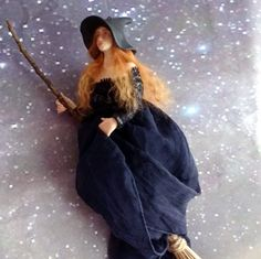WITCH WICCA clay polymer by WishaMagicForest on Etsy