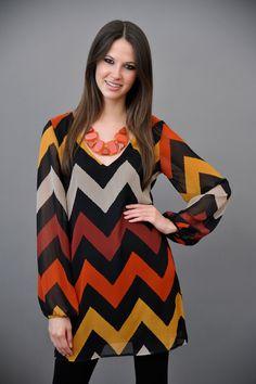 Fall Chevron Dress! Love this!
