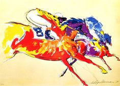 Into the Turn | LeRoy Neiman #leroyneiman