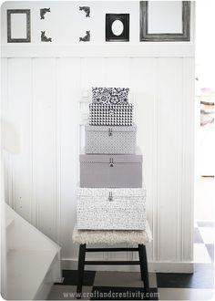 Storage box makeover - by Craft & Creativity
