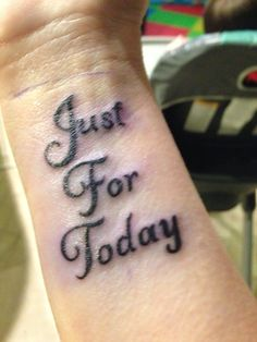 My new tattoo to remind me to always take things one day at a time :)