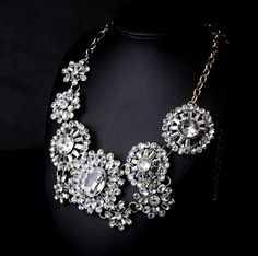 Wholesale New Design Jewelry Accessories Fashion Lady Bib Statement Mixed Multi Crystal necklace Collar MT-N00437 Necklaces