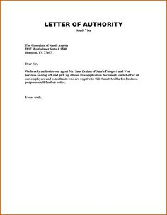 Authorisation letter sample to collect passport authorisation authorization letter template spiritdancerdesigns Images