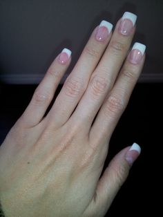 flawless job of pink and white fill with a gel top coat $30