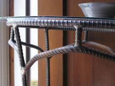 Custom Rustic Industrial Side Table Coffee Table by SoulSeeds