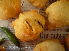 gram fritters - serve with coconut chutney, and they are the most delicious Indian-style snack
