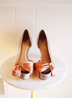 Apricot Wedding Shoes <3 themarriedapp.com hearted <3