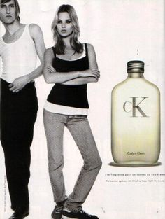 90s look (Kate Moss) + fragrance (ck One)