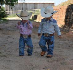 Two little cowpokes.