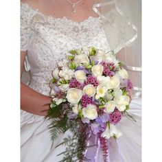 Lilac bridal bouquet via Polyvore