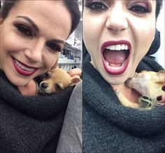 """Lana Parrilla: """"Pepito loved the Queen for 30 seconds before he went for the jugular! Who's this dog workin' for?! #DeathbyChihuahua"""""""