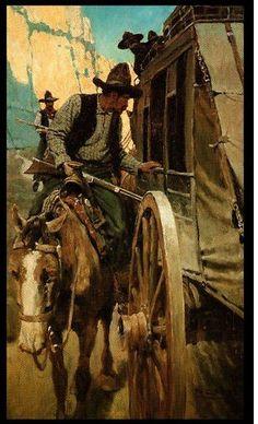 """Admirable Outlaw"" 1906 by NC Wyeth Westerns, Nc Wyeth, Cowboy Art, Western Cowboy, Into The West, West Art, Le Far West, Art Graphique, Mountain Man"