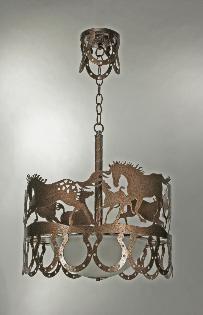 Wild Horses Chandelier