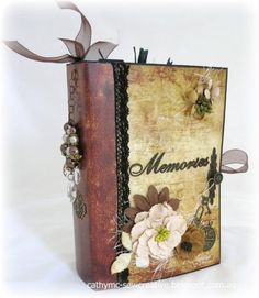 Vintage Paper bag Mini Album by Cathy Mc - Cards and Paper Crafts at Splitcoaststampers