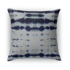 Shibori Stripe Burlap Indoor/Outdoor Throw Pillow