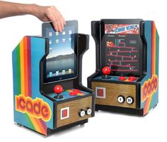I used to have one of these that was a Pac Man game! too cool :)