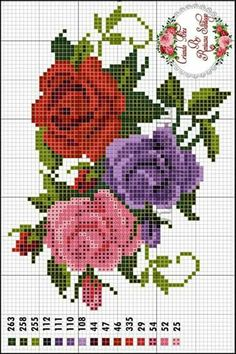 This Pin was discovered by sha Xmas Cross Stitch, Cross Stitch Rose, Cross Stitch Borders, Modern Cross Stitch Patterns, Cross Stitch Flowers, Cross Stitch Charts, Cross Stitch Designs, Cross Stitching, Cross Stitch Embroidery