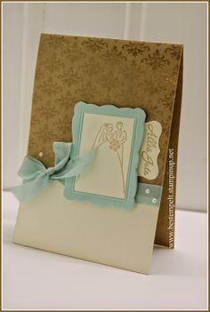 Stampin Up! Best oft Brides an Babies, Designerrahmen, Wedding Words. Embossing