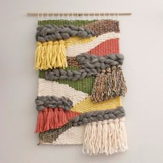 Modern Woven Tapestry, Large Weaving by EastParlor on Etsy