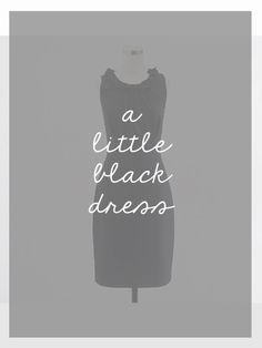 The Small Things Blog: accessorizing a little black dress