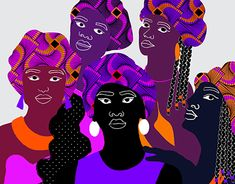 """Check out new work on my @Behance portfolio: """"Women of colors"""" http://be.net/gallery/66638375/Women-of-colors"""