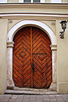 old door in Kraków, Poland