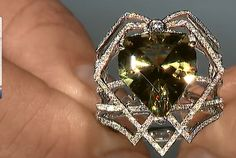 Zultanite ring with diamonds by Kat Florence