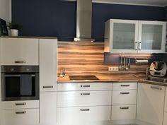 Blaue Wände Küche