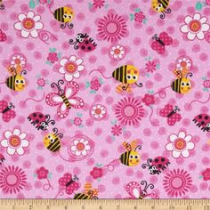 This double-napped (brushed on both sides) flannel is perfect for quilting, apparel and home decor accents.  Colors include pink, white, black and yellow.