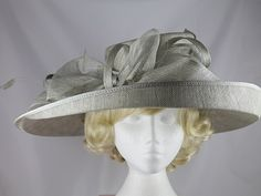 Wedding Hats - Failsworth Millinery Wedding / Ascot Hat in Silver - Product Code: 6673 Ascot Hats, Second Weddings, Wedding Hats, Summer Collection, Silver, Color, Beautiful, Outfit, Fashion