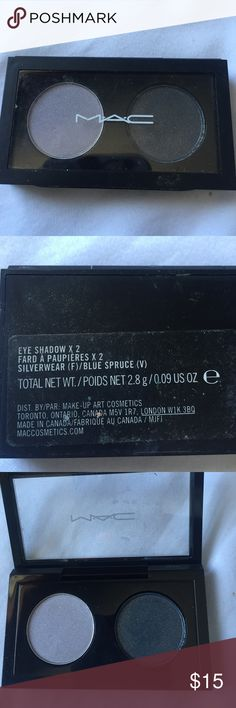 New never used MAC eyeshadow Silverwear and blue spruce. Never used. More make up in my closet bundle and save! MAC Cosmetics Makeup Eyeshadow