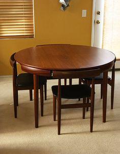 Hans Olsen Teak Dining Set 6 Chair Table Danish Mid Century Modern Eames Wegner | eBay
