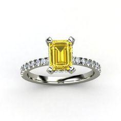 1.50 Ct Intense Yellow Vs2 Natural Emerald Cut Certified Diamond Engagement Ring  $4,999.00