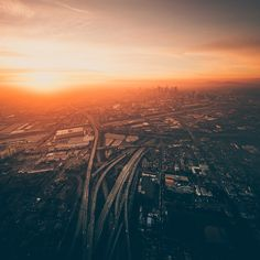 Sky-High Images of Los Angeles at Dusk and Dawn by Dylan Schwartz | Colossal