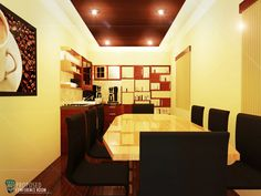 Architectural Rendering: Proposed TZM Rustic Conference Room Interior Design