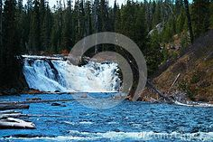Lewis Falls in Yellowstone National park.