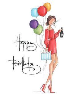 Happy Birthday Wishes For A Friend, Happy Birthday Woman, Happy Birthday Wishes Cards, Birthday Wishes And Images, Birthday Wishes Quotes, Happy Birthday Ballons, Happy Birthday Flower, Birthday Sparklers, Happy Birthday Illustration