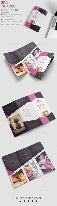 Spa Brochure Template - Brochures Print Templates