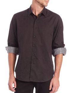 ROBERT GRAHAM Cullen Cotton Button-Down Shirt. #robertgraham #cloth #sportshirt