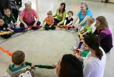 STRETCHY BAND - My New Favorite Manipulative! Blog post with tons of ideas for early childhood music!