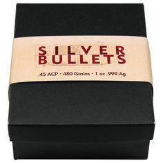 1oz Silver Bullet .45 Caliber ACP 20pc Box Replica