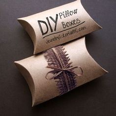 Make Your Own Pillow Boxes – Handmade Packaging How-to (video tutorial   free printable)                                                                                                                                                                                 More