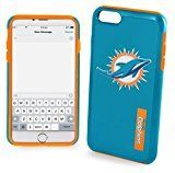 Forever Collectibles - Licensed NFL Cell Phone Case for Apple iPhone 6/6s - Retail Packaging - Miami Dolphins